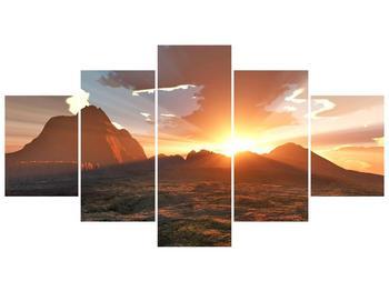 Obraz západu slunce nad horama (F001700F150805PCS)