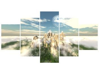 Obraz zasněžených vrcholů skal (F001715F150805PCS)