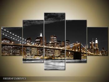 Obraz žlutého New Yorku (F001854F150805PCS)