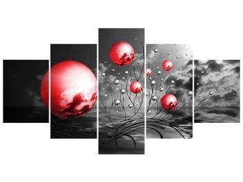 Moderní obraz - červené koule (F002086F150805PCS)