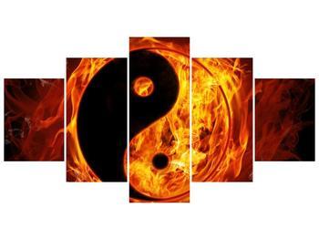 Obraz hořícího jin jang (F002309F150805PCS)