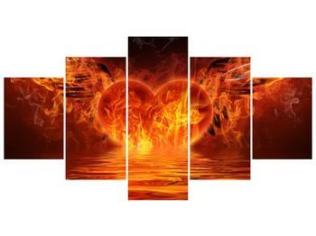 Obraz hořícího srdce s křídly  (F002884F150805PCS)