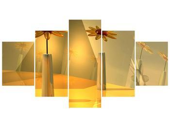 Abstraktní obraz květin  (F003990F150805PCS)