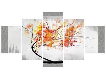 Abstraktní obraz -  podzimní strom (F005591F150805PCS)
