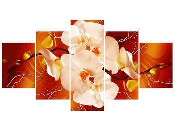 Obraz bílých orchidejí (F005694F150805PCS)