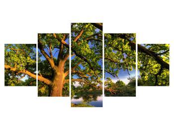 Obraz  stromu u jezera (K010157K150805PCS)