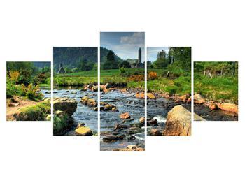 Obraz horské krajiny s řekou (K010406K150805PCS)