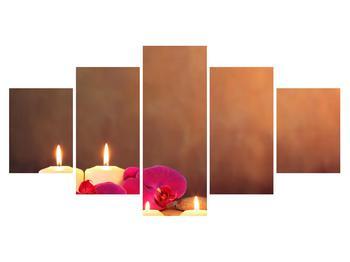 Tablou relaxant cu lumănâri și orhidee (K011120K150805PCS)