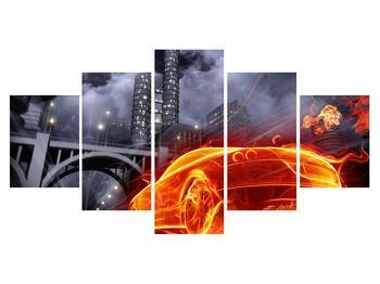 Tablou cu mașina arzând (K011167K150805PCS)