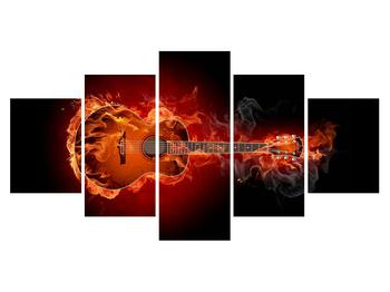 Lángoló gitár képe (K011168K150805PCS)