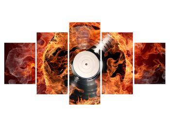 Tablou cu placă de gramofon în foc (K011171K150805PCS)