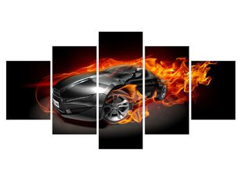 Tablou cu mașina arzând (K011174K150805PCS)