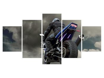 Tablou cu motociclist cu motocicletă (K011302K150805PCS)
