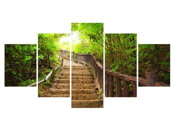 Obraz schodů vedoucích krajinou (K011329K150805PCS)