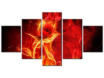 Obraz růže v ohni (K011397K150805PCS)