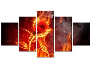 Tablou cu trandafir în foc (K011399K150805PCS)