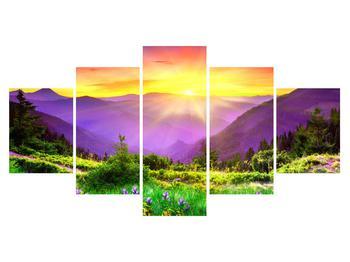 Obraz horské krajiny s východem slunce (K011873K150805PCS)