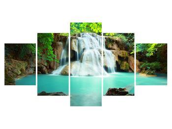 Obraz řeky s vodopády (K011969K150805PCS)