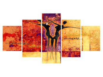 Tablou abstract cu doi dansatori (K011975K150805PCS)