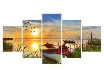 Obraz loďky na jazere (K012049K150805PCS)
