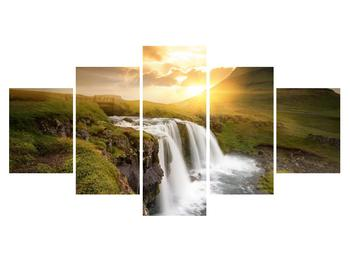 Obraz krajiny s malým vodopádem (K012050K150805PCS)