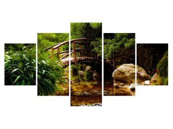 Obraz dřevěného mostu přes říčku (K012336K150805PCS)