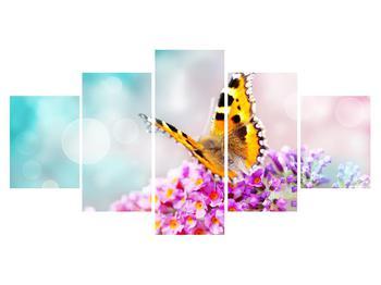 Obraz motýla na květech (K012351K150805PCS)