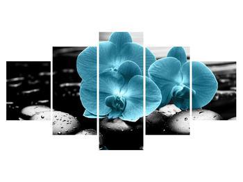 Tablou cu flori de orhidee albastre (K012398K150805PCS)