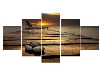 Tablou cu port la mare (K012414K150805PCS)