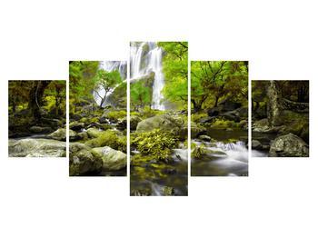 Obraz lesní krajiny s potokem (K012484K150805PCS)