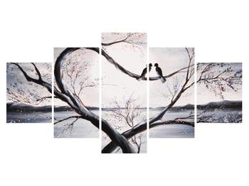 Tablou cu păsări îndrăgostite (K012516K150805PCS)