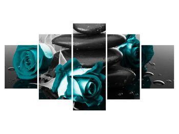 Tablou cu trandafiri albastre (K012553K150805PCS)