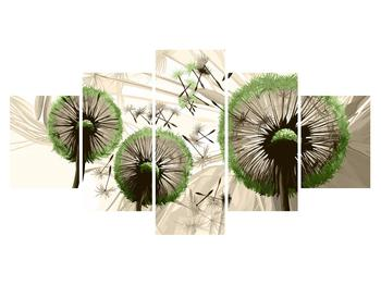 Obraz chmýří zelených pampelišek  (K014157K150805PCS)