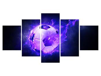 Tablou cu mingea de footbal în plasă (K014164K150805PCS)