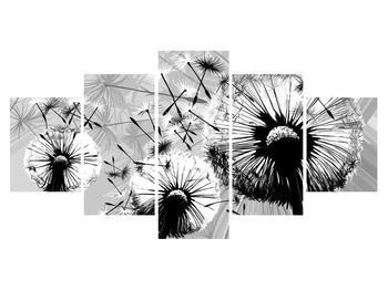 Moderní obraz černobílých pampelišek (K014188K150805PCS)