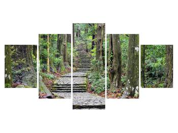 Obraz kamenných schodů v lese (K014268K150805PCS)
