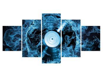 Tablou cu placă de gramofon în foc albastru (K014442K150805PCS)