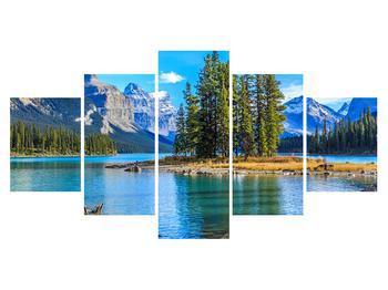 Obraz horské krajiny s řekou (K014679K150805PCS)