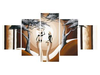 Orientální obraz dvou žen a stromu  (K014682K150805PCS)