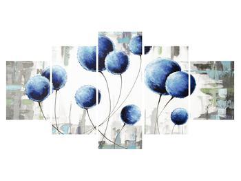 Abstraktní obraz - modré balónky (K014707K150805PCS)