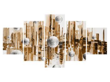 Abstraktní obraz - město (K014743K150805PCS)