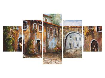 Obraz malované středomořské uličky (K014855K150805PCS)