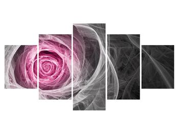 Abstraktní obraz růže (K014952K150805PCS)
