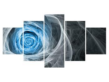 Abstraktný obraz modrej ruže (K014962K150805PCS)