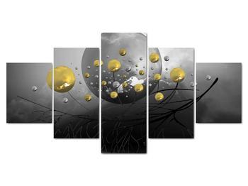 Obraz zlatých abstraktných gulí (V020099V150805PCS)