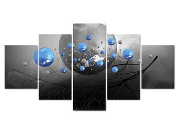 Obraz modrých abstraktných gulí (V020102V150805PCS)
