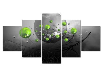 Obraz zelených abstraktných gulí (V020103V150805PCS)