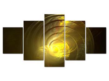 Obraz žltej abstraktnej špirály (V020124V150805PCS)