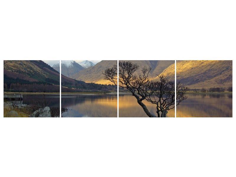 Obraz hor u jezera (F000686F16040)