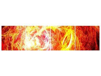 Abstraktní oranžový obraz (F000152F16040)
